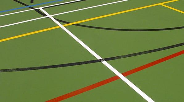 tracage, marquage, gymnase, multisports, handball, volley ball
