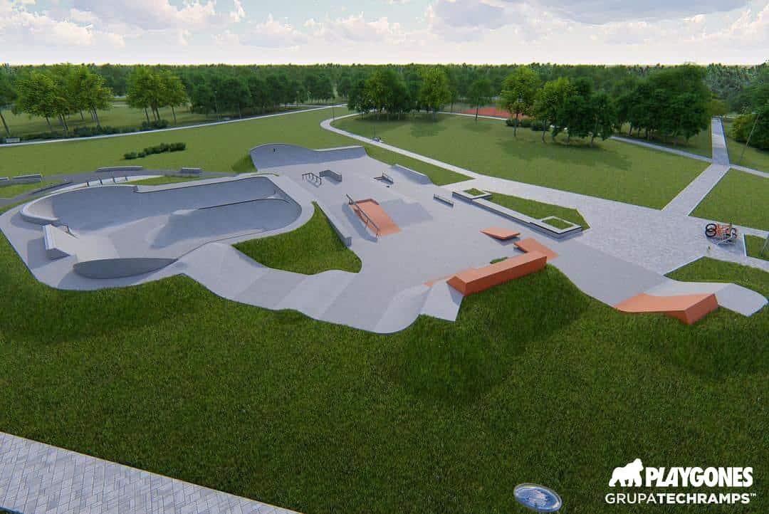 Maquette en 3 dimensions de skate park