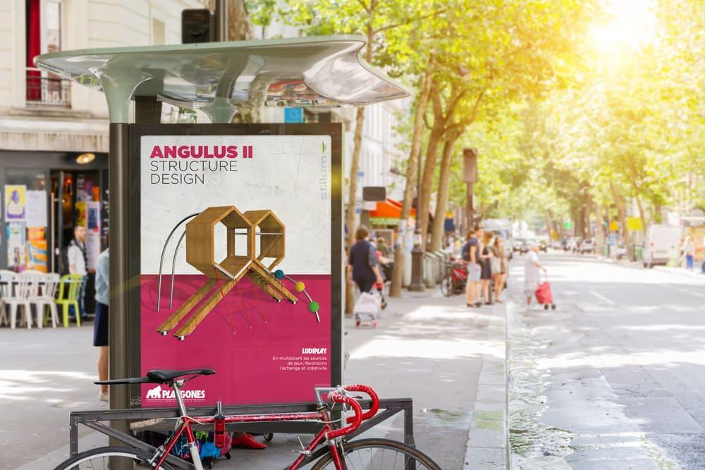 Publicité sur un abris bus de notre gamme ludiplay
