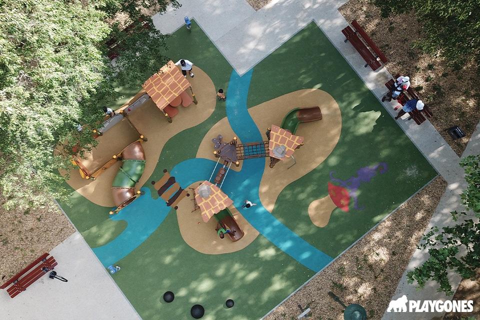 Aire de jeux et sol amortissant en EPDM Husson à Valence dans la Drôme