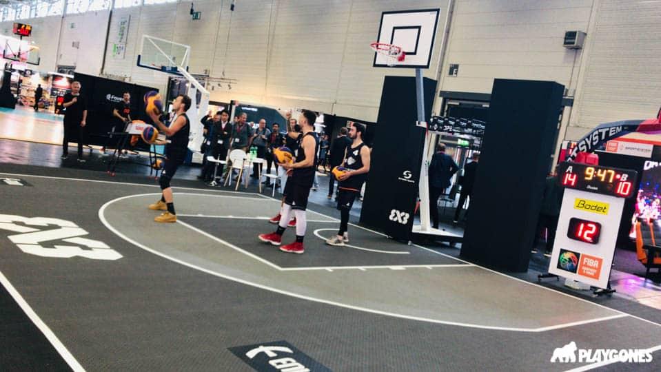 Demo sur un plateau de basket 3x3