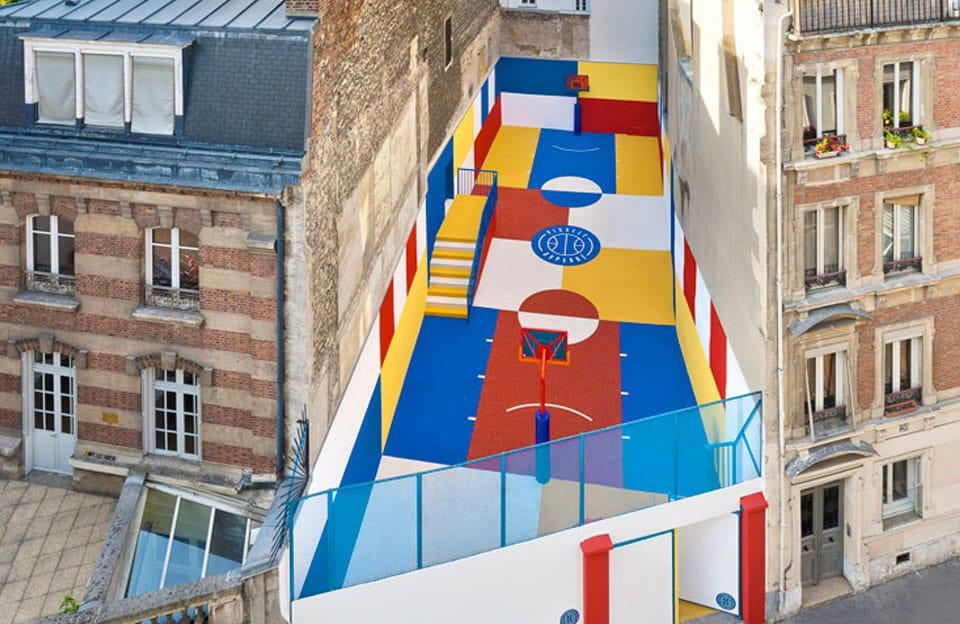 Pigalle, terrain de basket rue Dupérré, Paris - 2015