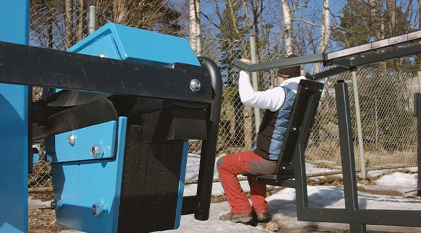 machine de musculation outdoor reglable