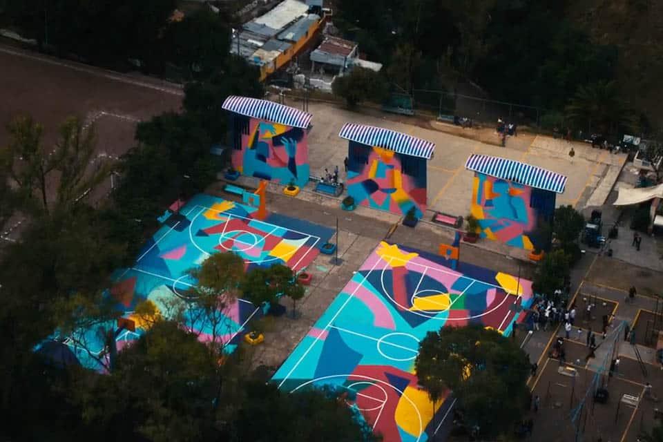 Solar Graffiti vue de drone