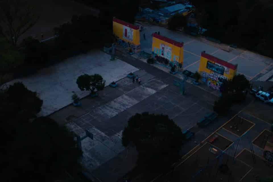 Solar Graffiti de nuit avant la réalisation