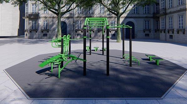 aire de fitness en exterieur en cente ville