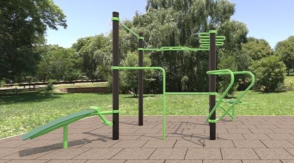 Une aire de gym en plein-air pour seniors