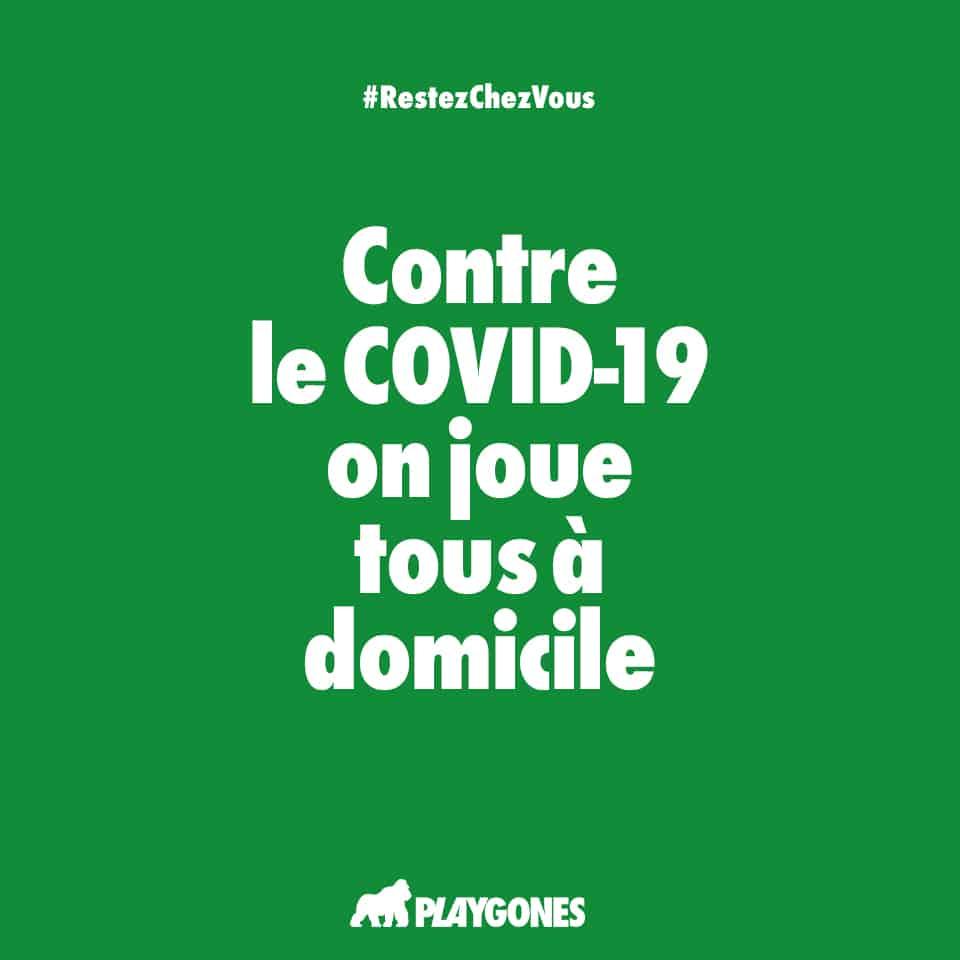 Campagne web de prévention COVID19 par Playgones - poster vert