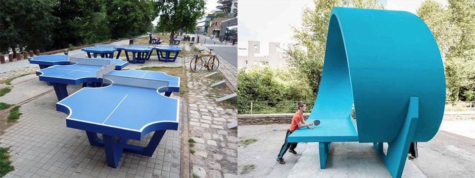 Oeuvre artistique ludico-sportive - Le tennis de table à Nantes