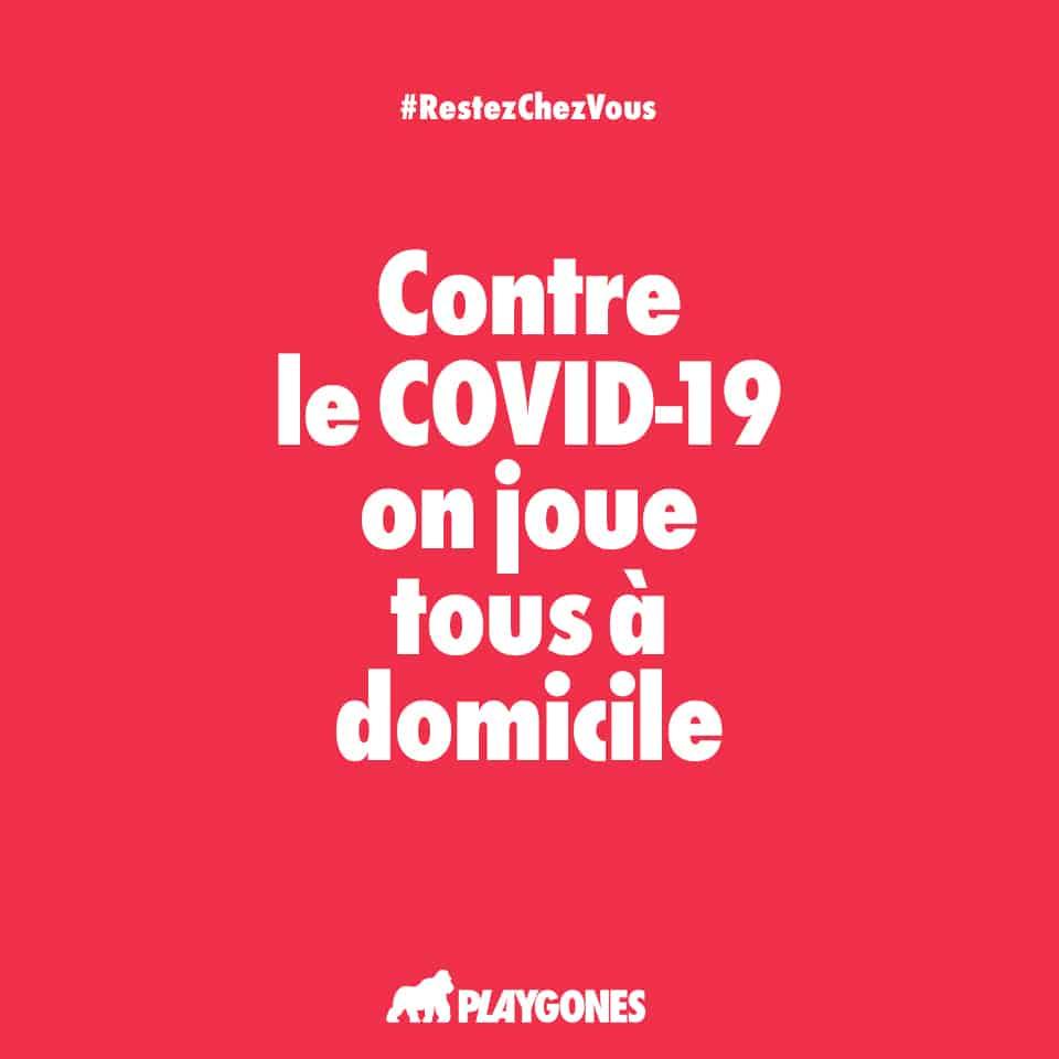 Campagne web de prévention COVID19 par Playgones - poster rouge