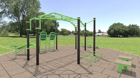 station de fitness connectée