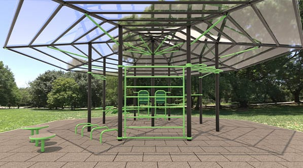 station de fitness outdoor couverte