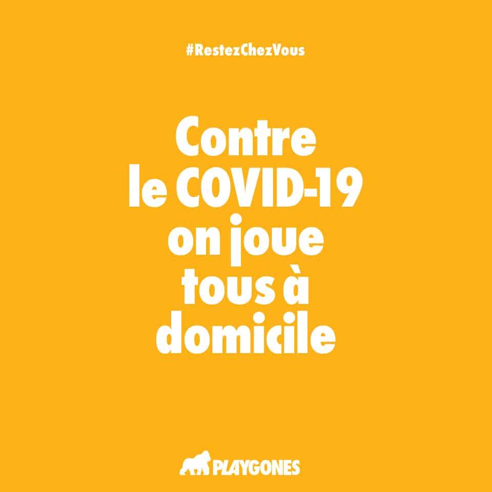 Campagne web de prévention COVID19 par Playgones - poster jaune