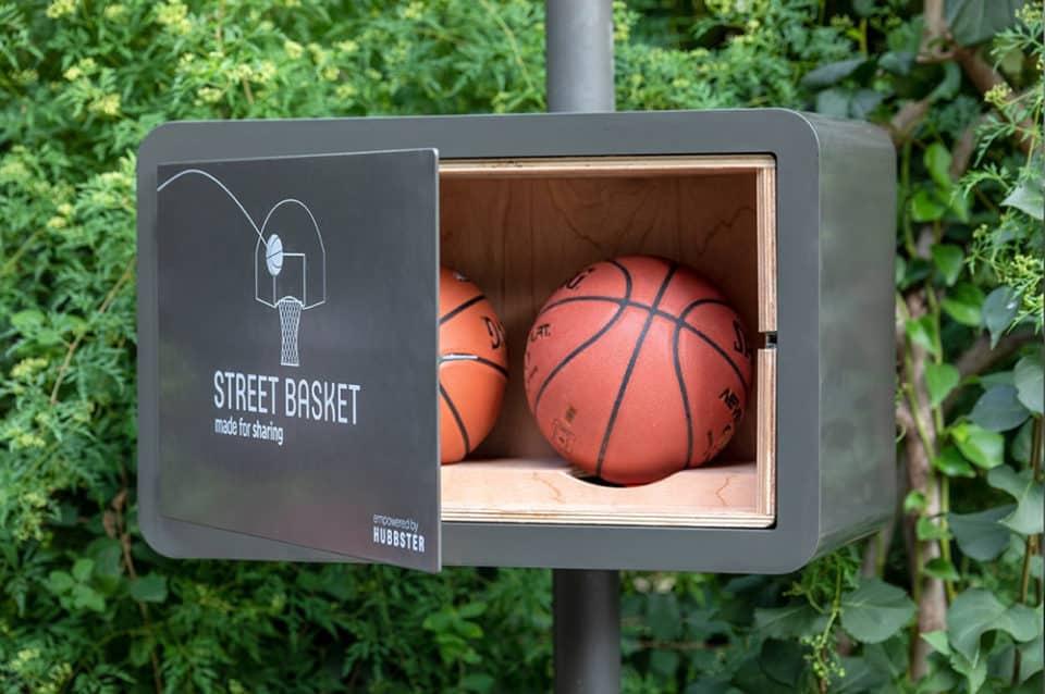 boite pour les ballons de basket Hubbster